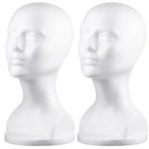 Dini Wigs Styrofoam Display Mannequin Head 13 Inch For Hair Pieces Hats And 2