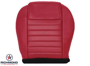 2005 2009 Ford Mustang V8 driver Side Bottom Perforated Leather Seat Cover Red