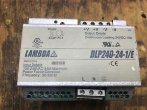 Lambda 24vdc 10a Dc Power Supply Dlp240 24 1 e