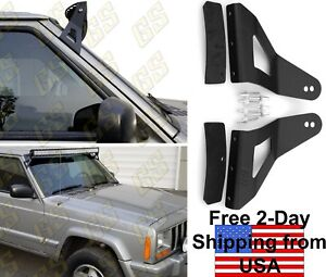 Gs Power S Jeep 52 Curved Led Light Bar Brackets For 1984 2001 Cherokee Xj