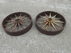 John Deere R 80 820 830 Rear Steel Wheels Jd1280r Rare