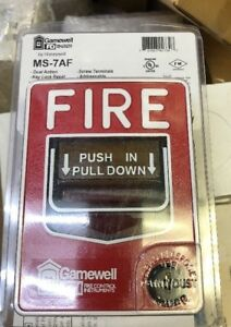 Gamewell Fci Ms 7af Manual Pull Station Dual Action Fire Alarm