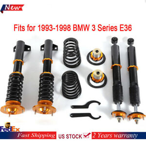 Front Rear Install Struts Coil Spring For 1993 1998 Bmw 3 Series E36 318 323