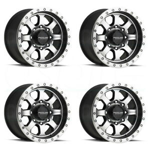 17x9 Raceline 929m Street 8x6 5 8x165 1 20 Machined Black Wheels Rims Set 4