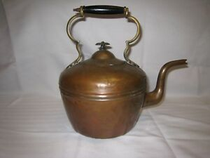 Tea Kettle Antique Copper And Brass