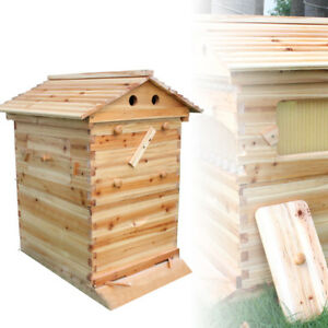 Beekeeping Cedarwood Super Brood Box Wooden Box For 7pcs Honey Bee Hive Frames