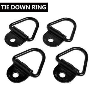 4pcs Bolt On D Ring 2 Cargo Strap Tie Down Flatbed Truck Trailer Rings Trucks