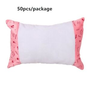 50x Sublimation Blank Small Neck Pillow Case With Bear Pattern Cartoon Diy Print