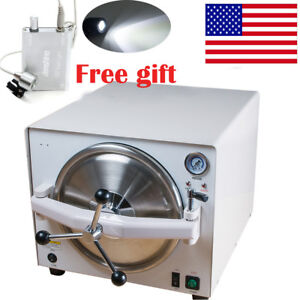 Upgraded Medical Autoclave Steam Sterilizer Dental Lab Equipment Led Head Light