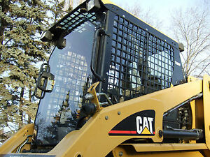 Caterpillar Cat 1 2 Unbreakable Door sides Lexan Polycarbonate Skid Steer Cab