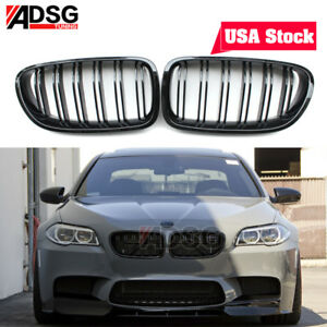 For Bmw 5 Series F10 F11 Glossy Black Front Grille Grill Kidney 528i