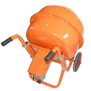 Industrial Concrete Mixer Portable Movable 110v Drum Type Mortar