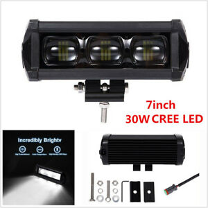 Universal 7inch 30w 8d Cree Led Work Light Bar Spot Driving Fog Lamp Offroad 4wd