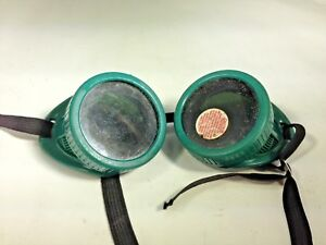 Vintage Athermal Goggle Glass Green Color Steampunk Gear Eye Protector Glasses