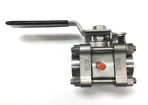 Ball Valve Stainless Steel 3 piece 3 4 Npt Size 1000 Psi Vented Lockable