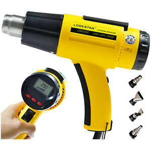 Lodestar Air Heat Gun Lcd Digital Adjustable Hot Nozzle 1500w Ac110v Temperature