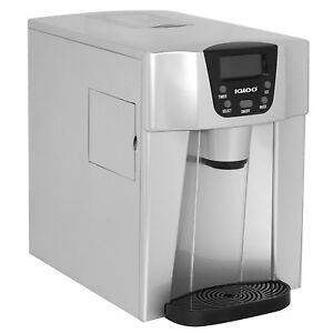 Igloo Countertop Ice Maker And Fresh Water Dispenser ice 227 Silver