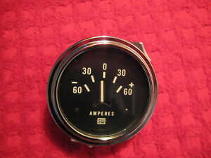 Vintage Nos Stewart Warner 2 5 8 Inch 60 60 Amp Gauge Made In U s a
