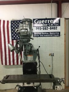 Bridgeport Milling Machine 2j Head 42 Table W power Feed