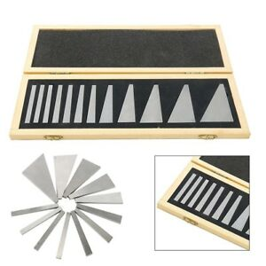 12 Pcs Precision Angle Block Set Lathes Milling Ground Gauge Machinist Tool