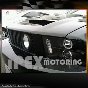 New 2005 2009 Ford Mustang Dual Halo Projector Led Headlights Headlamp Black