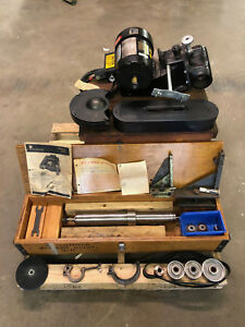 Dumore 8205 Series 12 Tool Post Grinder 3 Phase 1 Hp With Spindle Belts Pulleys