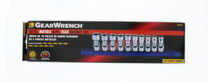 Gearwrench 80565 10 Piece Metric 3 8 Drive 6 Point Flex Socket Set
