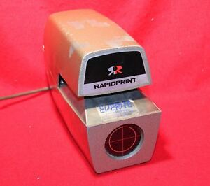 Rapidprint Ar e Date And Time Recorder Stamp W Key