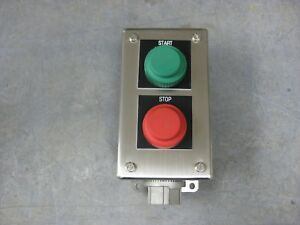 Hoffman Emergency Start Stop Switch Box Enclosure