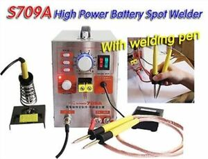 Spot Welder Staion 1 9kw 220v 2 In 1 Soldering Iron 60a Battery Welding Machi Mk