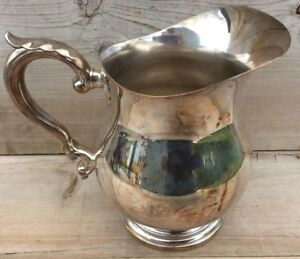 Vintage Wallace Silver Plate Water Pitcher 9432