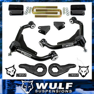 3 Full Lift Kit Control Arms 2001 2010 Chevy Gmc Silverado Sierra 2500 3500 Hd