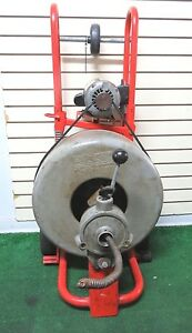 Ridgid K 750 Drum Machine Sewer Drain Cleaner With 5 8 X75 Cable