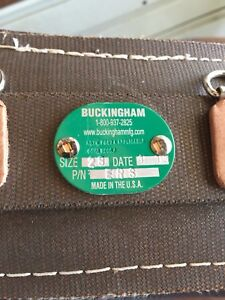 Buckingham Climbing Belt Size 28 And Pole Strap Plus Carrying Bag