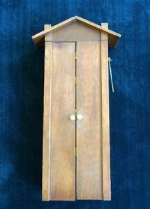 Antique Service Dinner Chime Wall Cabinet Quartersawn Oak Brass Arts Crafts