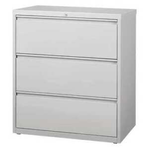 36 Wide Hl8000 Lateral File Cabinet 3 Drawer Light Gray Hirsh 17635