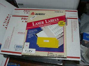 Avery 5160 Easy Peel White Address Labels 1 X 2 5 8 5160b 7500 New Labels