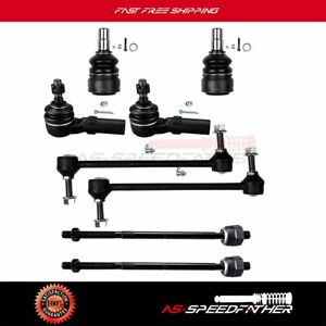 Front Suspension Ball Joint Tie Rod Sway Bar Kit 8pc For 2005 2006 Ford Mustang