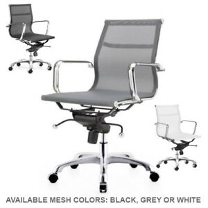 Mesh Management Chair Aluminum Frame Executive Mesh Group Office Chair Modern