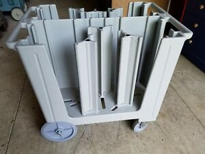 Cambro Adjustable Gray Commercial Plate Holder Dispenser Carrier Cart Caddy