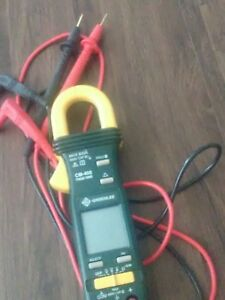 Greenlee Cm 450 True Rms Ac Max 600v Cat Iii Tester Clamp Multimeter