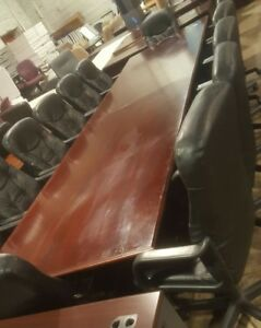 Paoli 14 Foot Conference Table Chairs Are Not Included