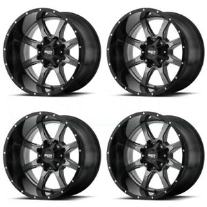 17x8 Moto Metal Mo970 8x6 5 8x165 1 0 Gunmetal Black Wheels Rims Set 4