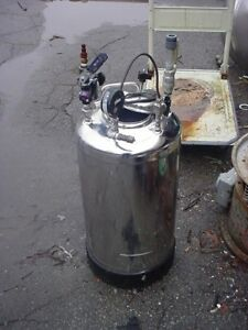10 Gallon 316l Stainless Steel Pressure Tank 115 Psi