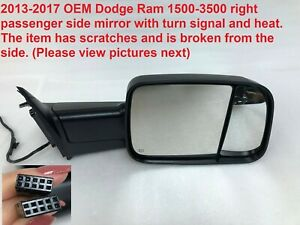 2013 2017 Dodge Ram 1500 3500 Right Side Mirror With Turn Signal And Heat 202