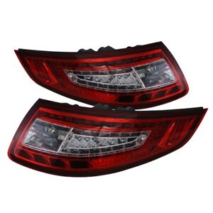 Spyder Auto Porsche 997 Carrera 911 05 08 Led Tail Lights Lamps Red Clear