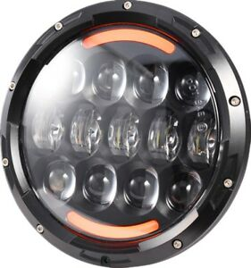 7 105w Round Osram Halo Led Headlight Turn Signal Lamp For Jeep Wrangler Jk Tj