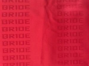 Jdm Bride Seat Red Color Fabric Interior Fabric Front Rear Seat Cover 2m X1 55m