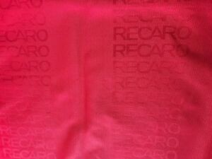 Recaro Seat Red Color Fabric Interior Fabric Front Rear Seat Cover 2m X 1 6m