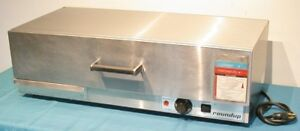 Roundup Wd 35a Hot Dog Bun Warmer Drawer Steamer Water Tray Holds 50 Buns Clean